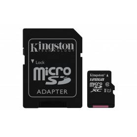 Kingston Micro SDXC 128GB Canvas Select 80R CL10 UHS-I Card + SD Adapter - SDCS/128GB