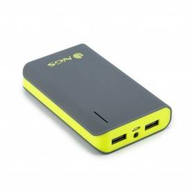 NGS 6600 mAh Powerbank with 1x2.1A and 1x1A output, Flashlight - POWERPUMP6600LEMON
