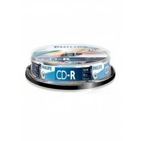 Philips CD-R 80Min 700MB 52x Cakebox (10 unidades)