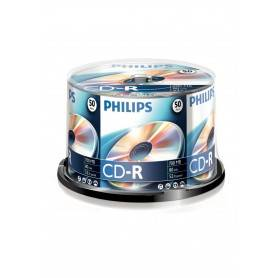 Philips CD-R 80Min 700MB 52x Cakebox (50 unidades)