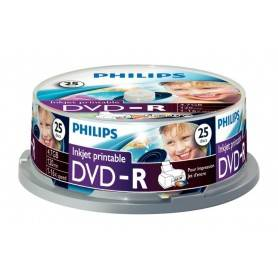 Philips DVD-R 4,7GB 16x Printable mate Cakebox (25