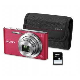 KIT W830 ROSA (20.1 MP / ZOOM 8X ) + BOLSA + SD 8G