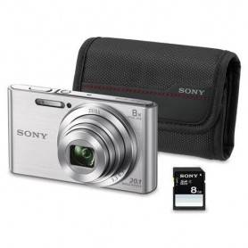 KIT W830 PRATA (20.1 MP / ZOOM 8X ) + BOLSA + SD 8