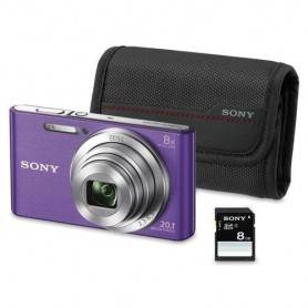KIT W830 VIOLETA (20.1 MP / ZOOM 8X ) + BOLSA + SD