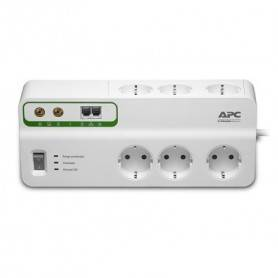 APC Home/Office SurgeArrest 6 outlets with Phone & Coax Protection 230V Germany - PMH63VT-GR