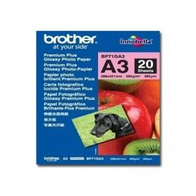 Brother Papel 'Glossy' A3 p/ 6490CW - BP71GA3