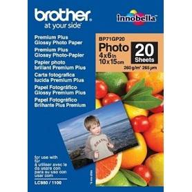 Brother Papel 'Glossy' 10x15. 20 folhas. p/130/145/330/350/240/440/465/540/560/660/750/770/3360/5460/845/885 - BP71GP20