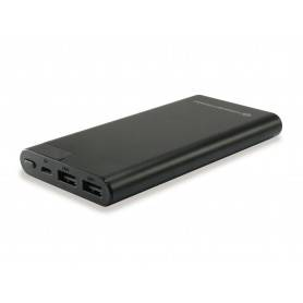 Conceptronic AVIL Power Bank 10000mAh, LCD display - black - AVIL02B