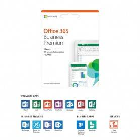 Microsoft Office 365 Business Premium Português Subscrição de 1 ano para Mac/Win - EuroZone Medialess - KLQ-00401