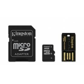 Kingston Mobility KIT 16GB Class 10 microSD com Adapter SD + Reader Android - MBLY10G2/16GB