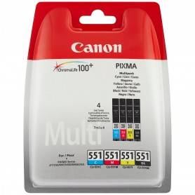 Canon Pack Papel + tinteiros - Papel Foto. 4x6  + CLI-521 Cyan, Magenta, Yellow, & Photo Black ink tanks Blistered- 2933B011