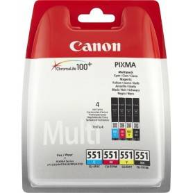 Canon Pack Papel + tinteiros - Papel Foto. 4x6  + CLI-551 Cyan, Magenta, Yellow, & Photo Black ink tanks Blistered - 6508B006