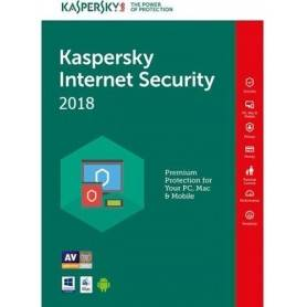 KASPERSKY INTERNET SECURITY 2018 1USER 1Y BOX