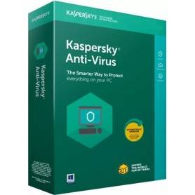 Software Kaspersky Anti-Virus 2020 3 User 1 Ano BOX