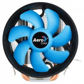 Cooler AEROCOOL VERKHO 3 Plus 125W 12cm blue fan Aluminium 3direct-contact heatpipes - VERKHO3PLUS
