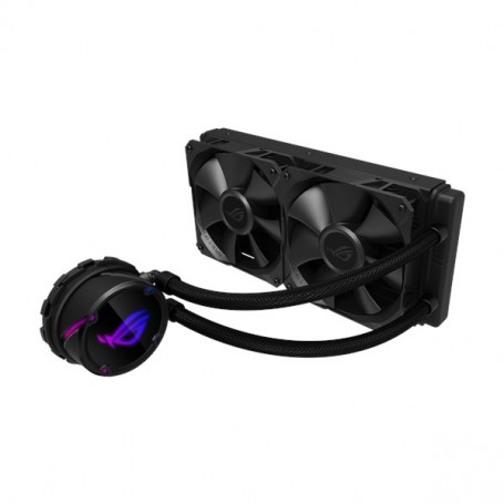 Asus ROG STRIX LC 240 AIO cooler features ROG iconic design with addressable RGB lighting, Aura sync - 90RC0060-M0UAY0
