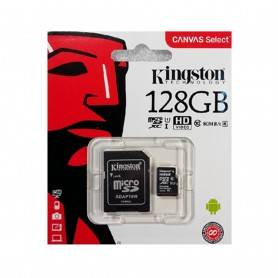 Kingston Micro SDXC 128GB Canvas Select Plus 100R A1 C10 Card + ADP - SDCS2/128GB