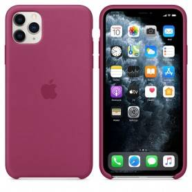 Apple iPhone 11 Pro Max Silicone Case - Pomegranate - MXM82ZM/A