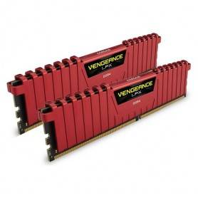 Corsair DDR4, 2400MHz 8GB 2 x 288 DIMM, Unbuffered, 16-16-16-39, Vengeance LPX Red Heat spreader - CMK8GX4M2A2400C16R