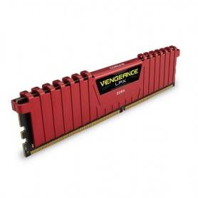 Corsair DDR4, 2400MHz 8GB 1 x 288 DIMM, Unbuffered, 14-16-16-31, Vengeance LPX Red Heat spreadeR - CMK8GX4M1A2400C14R