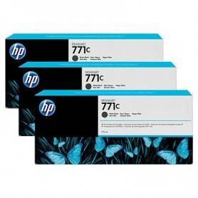 HP 771C 3-pack 775-ml Matte Black Designjet Ink Ca