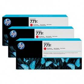 HP 771C 3-pack 775-ml Chromatic Red Designjet Ink