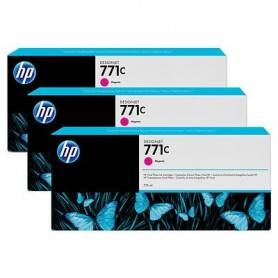 HP 771C 3-pack 775-ml Magenta Designjet Ink Cartri