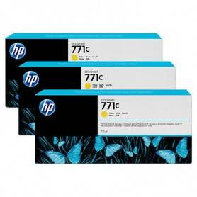HP 771C 3-pack 775-ml Yellow Designjet Ink Cartrid