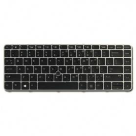 HP Backlit keyboard assembly - Spill-resistant design with drain and DuraKey coating (Portugal) compativel com Elitebook 840G3