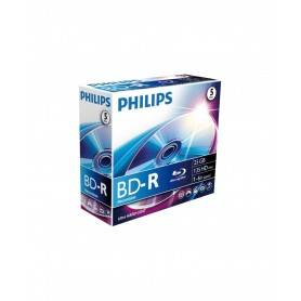 Philips Blu-Ray Recordable 25GB 6x Jewel Case (5 unidades) - BR2S6J05C