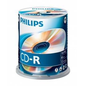 Philips CD-R 80Min 700MB 52x Cakebox (100 unidades) - CR7D5NB00