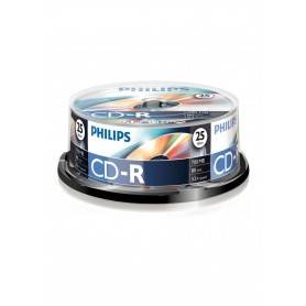 Philips CD-R 80Min 700MB 52x Cakebox (25 unidades) - CR7D5NB25