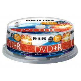 Philips DVD+R 4,7GB 16x Cakebox (25 unidades) - DR4S6B25F