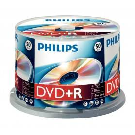Philips DVD+R 4,7GB 16x Cakebox (50 unidades) - DR4S6B50F