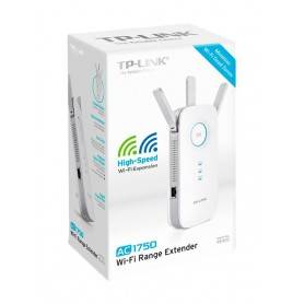 TP-Link AC1750 Dual Band Wireless Wall Plugged Range Extender, Qualcomm, 1300Mbps at 5Ghz+450Mbps at 2.4Ghz, 1 10/100/1000M LAN