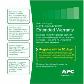 APC Service Pack +3Y Warranty ext. p/BE400-SP, BE550G-SP, BE700G-SP, SC420I, SC450RMI1U e SC620I - WBEXTWAR3YR-SP-01