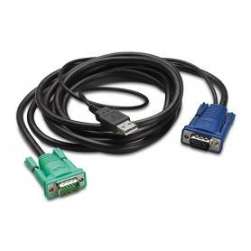 APC integrated LCD KVM USB cable - 12 ft (3m) - AP5822