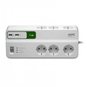 APC Essential SurgeArrest 6 outlets with 5V, 2.4A 2 port USB charger, 230V Germany - PM6U-GR