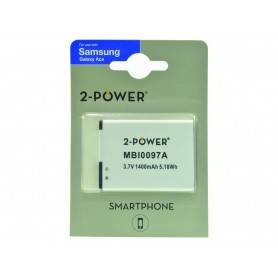 Battery Mobile phone 2-Power Lithium ion - Smartphone Battery 3.7V 1300mAh MBI0097A