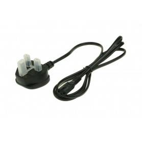 Power Power lead UK - AC Mains Lead Fig 8 UK Plug (Black) (Commonly used power cable)