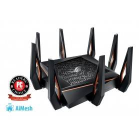 Asus GT-AX11000 - ROG Rapture 802.11ax Tri-band Gigabit Gaming Router - 90IG04H0-MO3G00