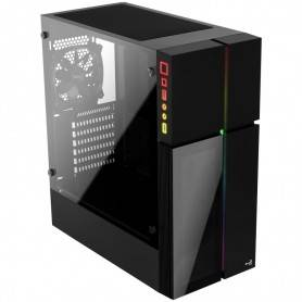 Caixa AEROCOOL ATX Midi-Tower, RGB, 1xFAN, Black Glass - PLAYAXL