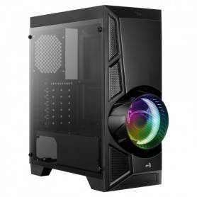 Caixa AEROCOOL ATX, RGB 13 MODES, FULL TEMPERED GLASS WINDOW, 12CM FAN - AEROENGINE