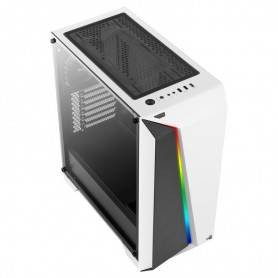 Caixa Aerocool CYLON PRO Advanced ATX, RGB13 Modes, Tempered Glass FW, White
