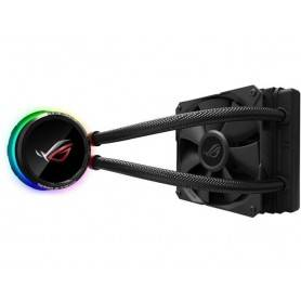 Asus ROG Ryuo 120 all-in-one liquid CPU cooler com color OLED, Aura Sync RGB, and ROG 120mm radiator fan - 90RC0010-M0UAY0