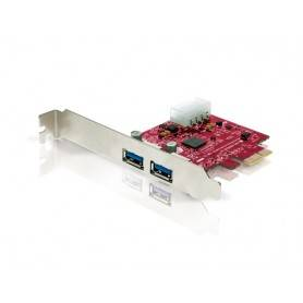 Conceptronic PCI Express c/ 2 portas USB 3.0 EXT e 1 Porta USB Power - CUSB3EXI