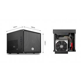 Cooler Master Elite 110, Mini-ITX, Dual Super Speed USB 3.0, Supports a 120mm radiator in the front, ATX PSU up to 180mm