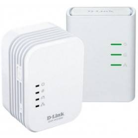 D-link Kit with 2 Powerline 500M Homeplug AV Wireless N Mini Extender, QoS, Common Connect Button, WPS - DHP-W311AV