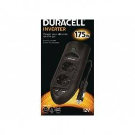 Power Power inverter  DC - Duracell 175W Twin EU Socket Inverter (With 2 x 2.1A USB Ports)