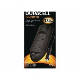 Power Power inverter  DC - Duracell 175W Twin UK Socket Inverter (With 2 X 2.1A USB Ports)